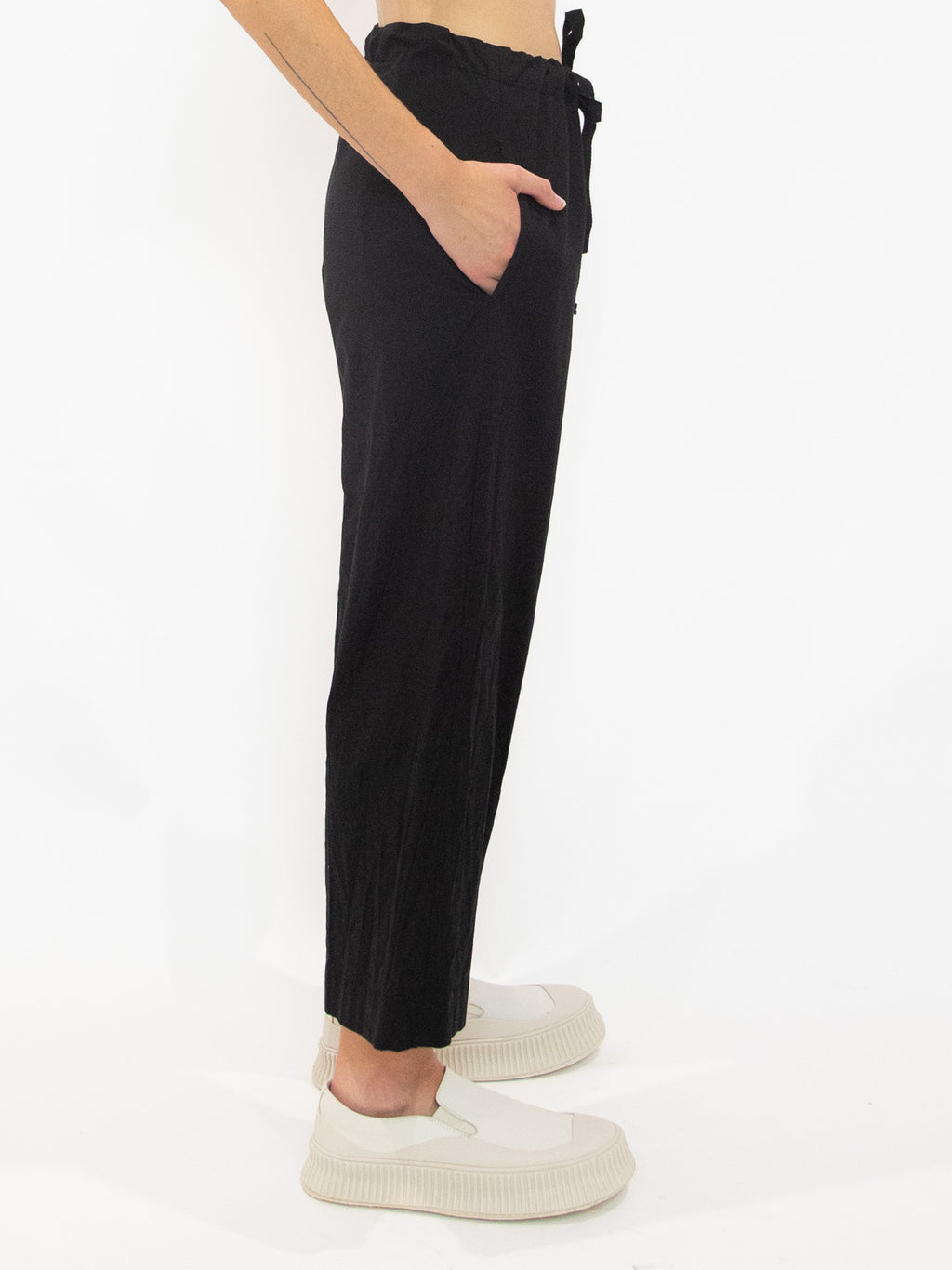Y's Drawstring Pocket Detail Wide Leg Pants