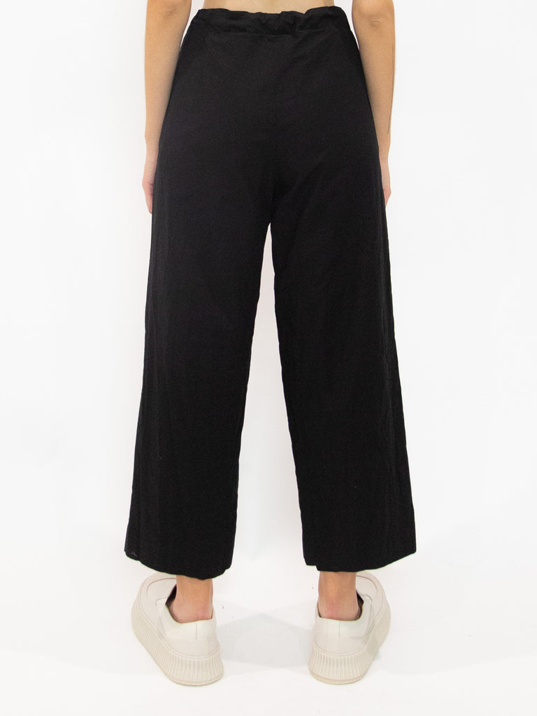 Drawstring Pocket Detail Wide Leg Pants