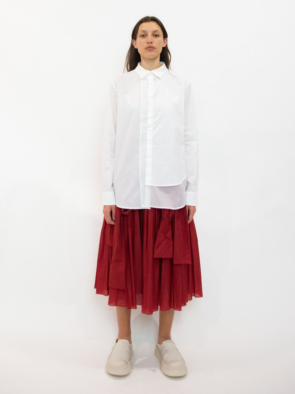 Y's Cotton Poplin Fringe Shirt