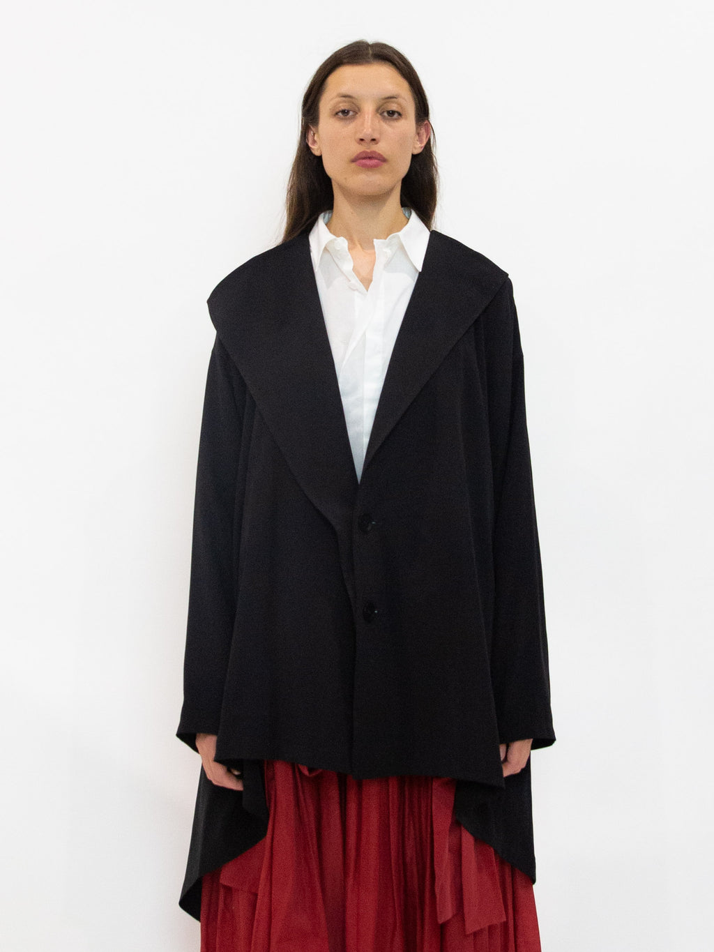 Y's A-Line Short Collar Jacket