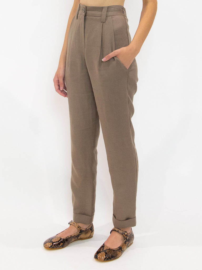 DRESS UP Cuffed Pant - Taupe