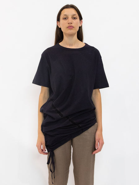 Adjustable Bottom Tie T-Shirt - Charcoal