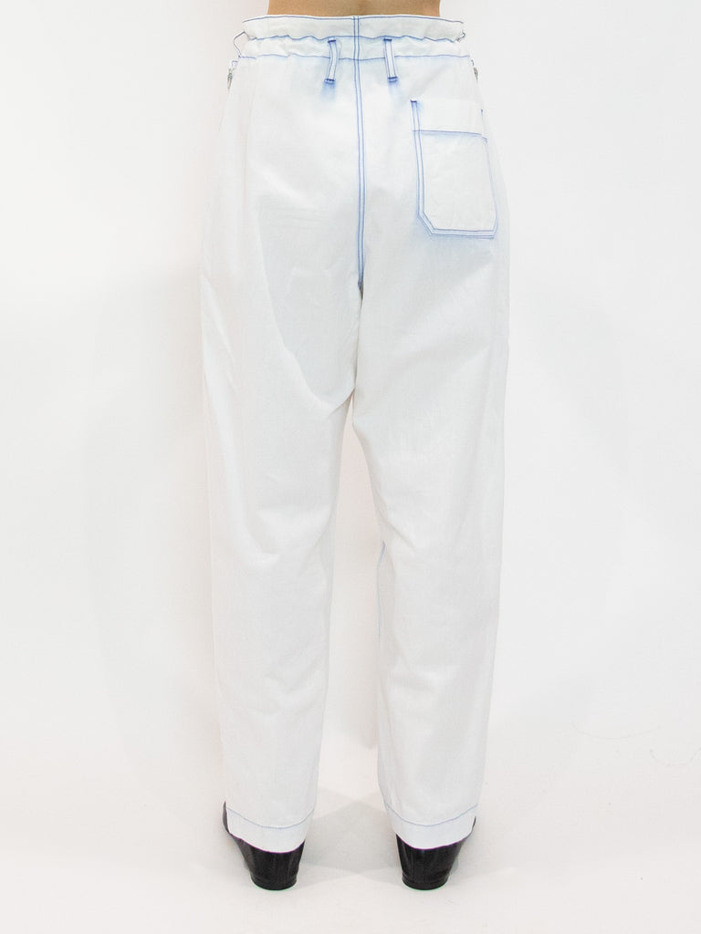 Tapered Bleached Denim Pants