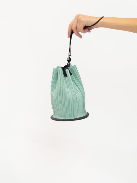 PLEATS PLEASE ISSEY MIYAKE Cone Pleats Bag - Tea Green