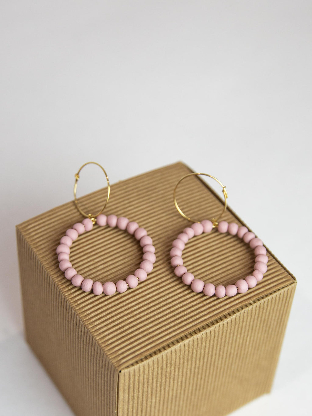 Porcelain Pearl Earrings - Baby Pink