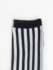 Thin Stripe Socks - White