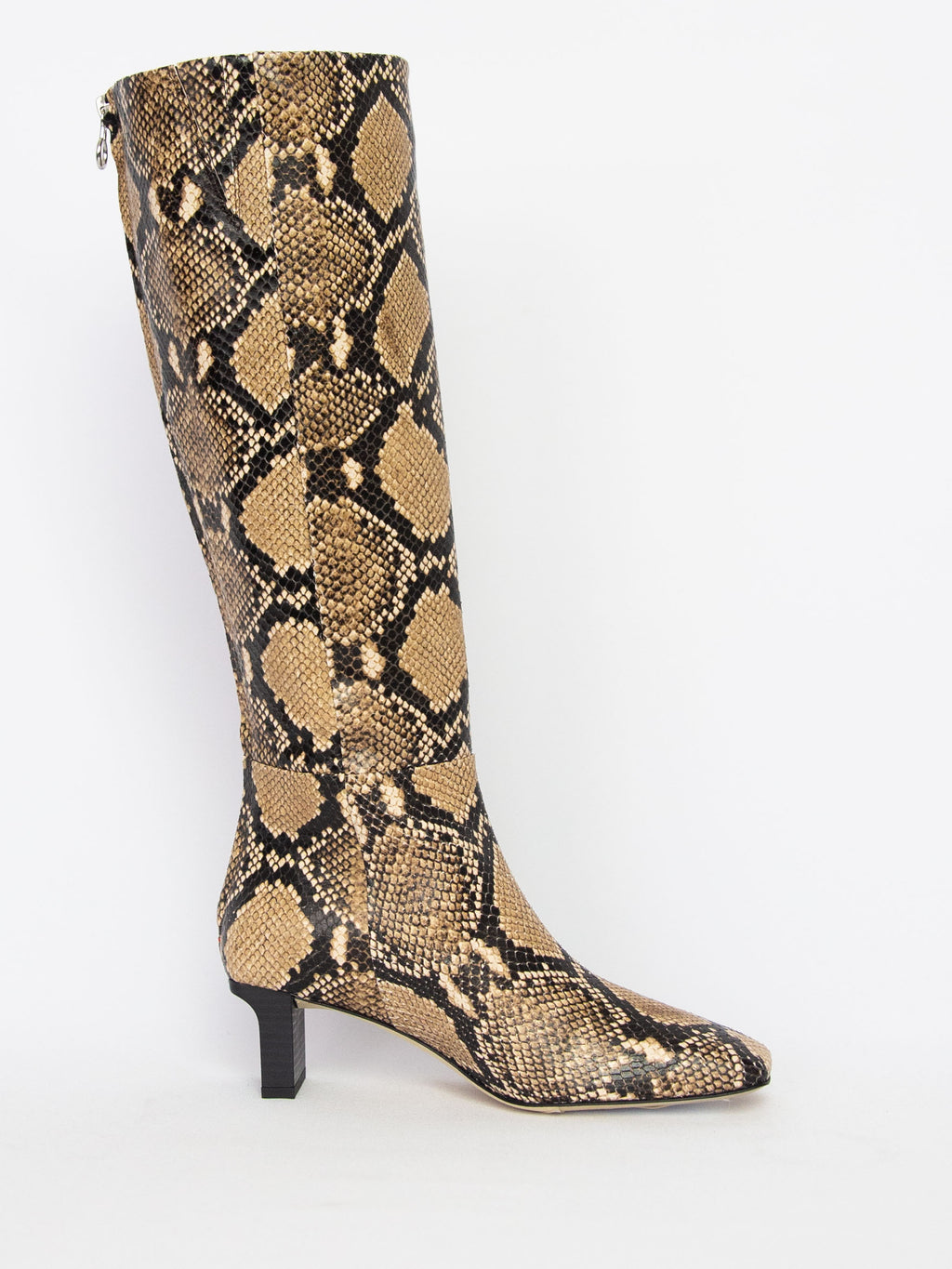Cicely Snake Print Tall Boot - Natural