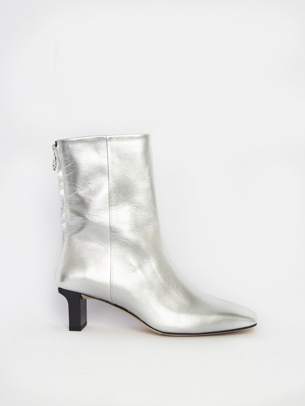 Tilly Nappa Leather Boot - Laminated Silver