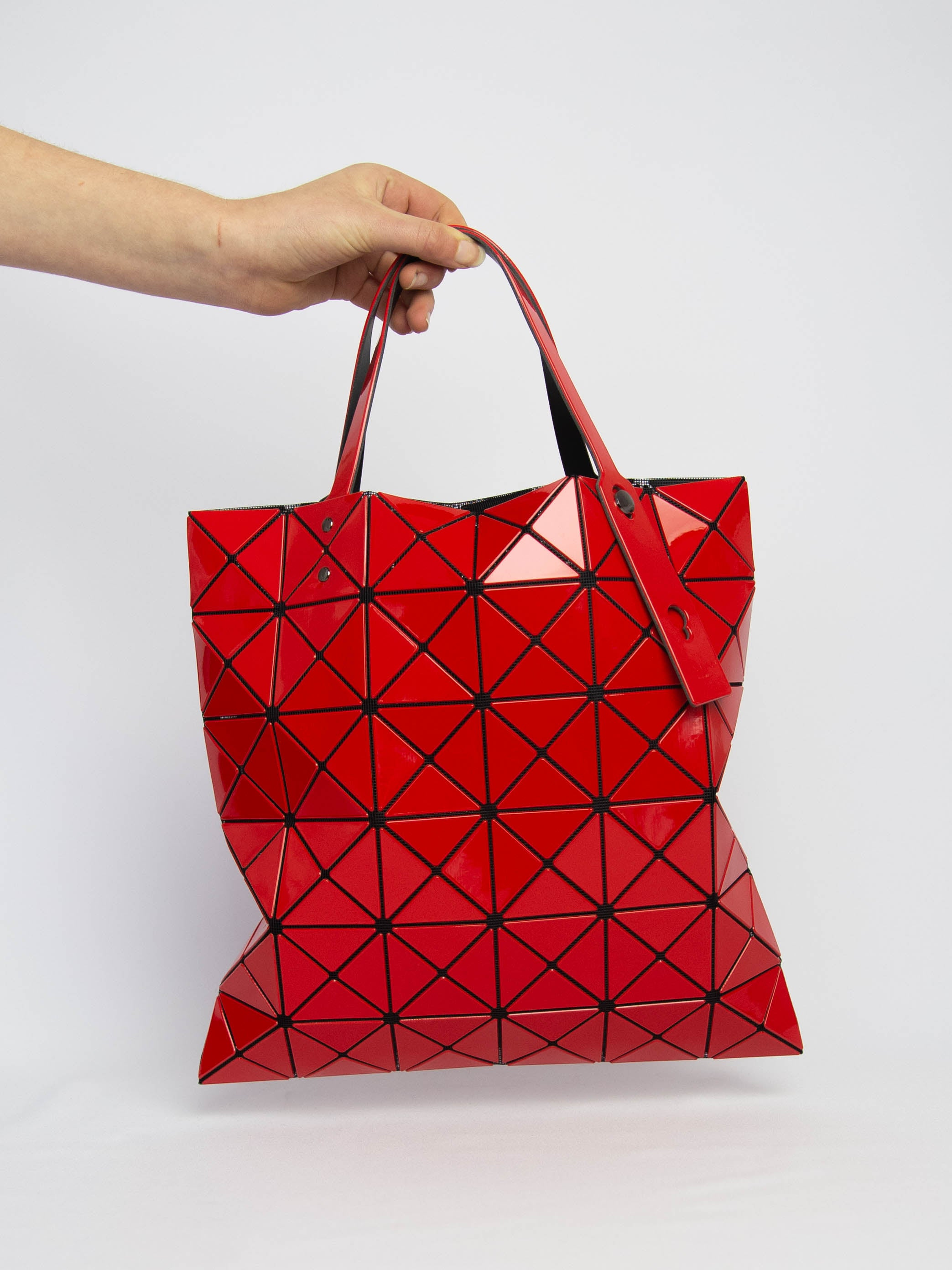 Lucent Gloss Tote Bag - Red