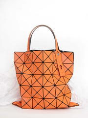 Lucent Metallic Tote Bag - Orange