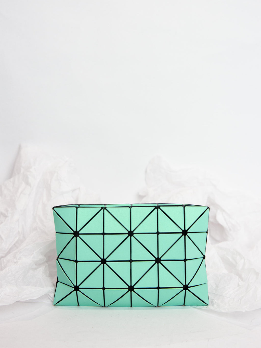 Lucent Metallic Pouch - Mint Green