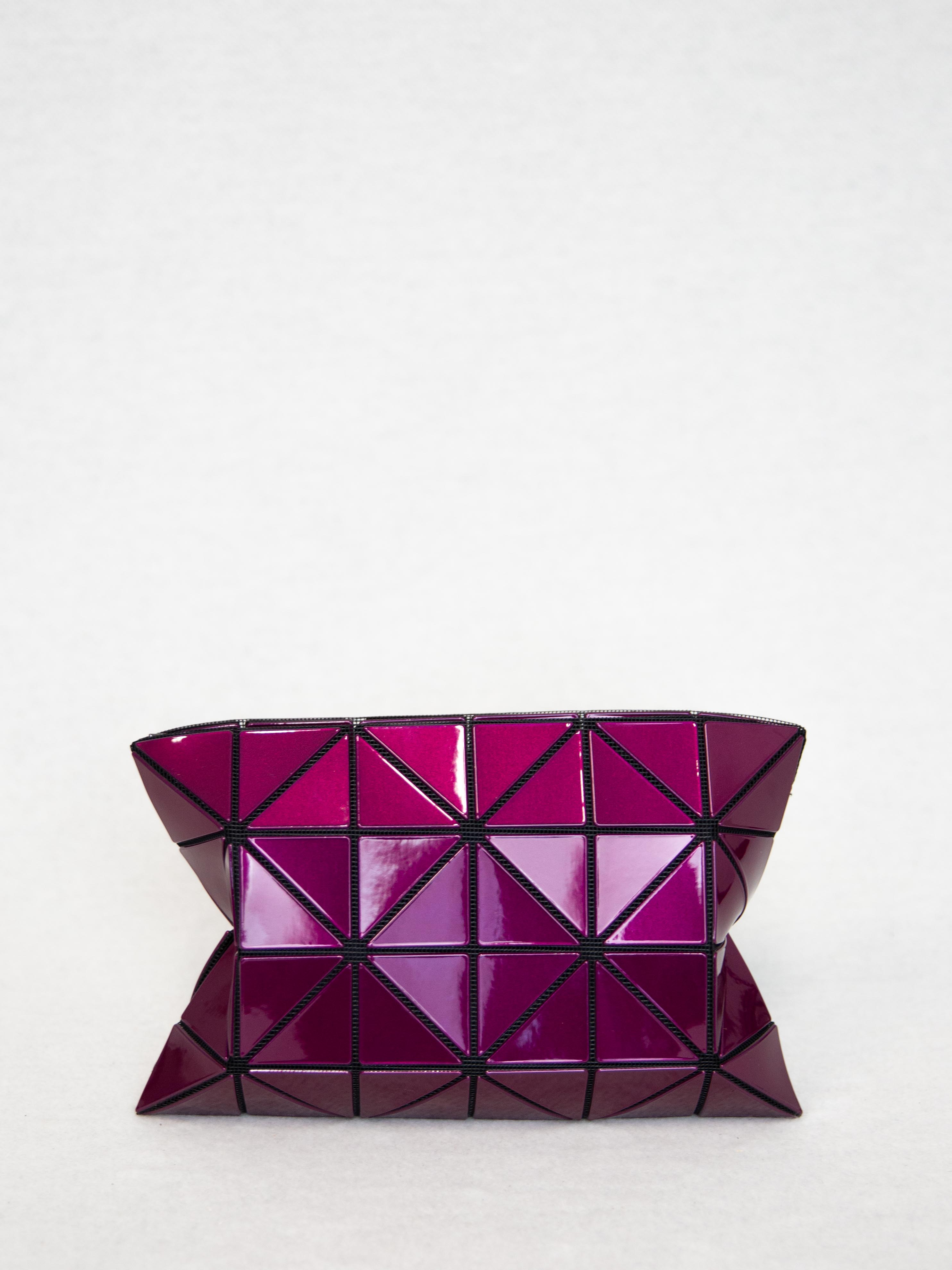 c9cb13d4cb83 BAO BAO ISSEY MIYAKE Lucent Metallic Zip Pouch - Bordeaux – Shifting Worlds