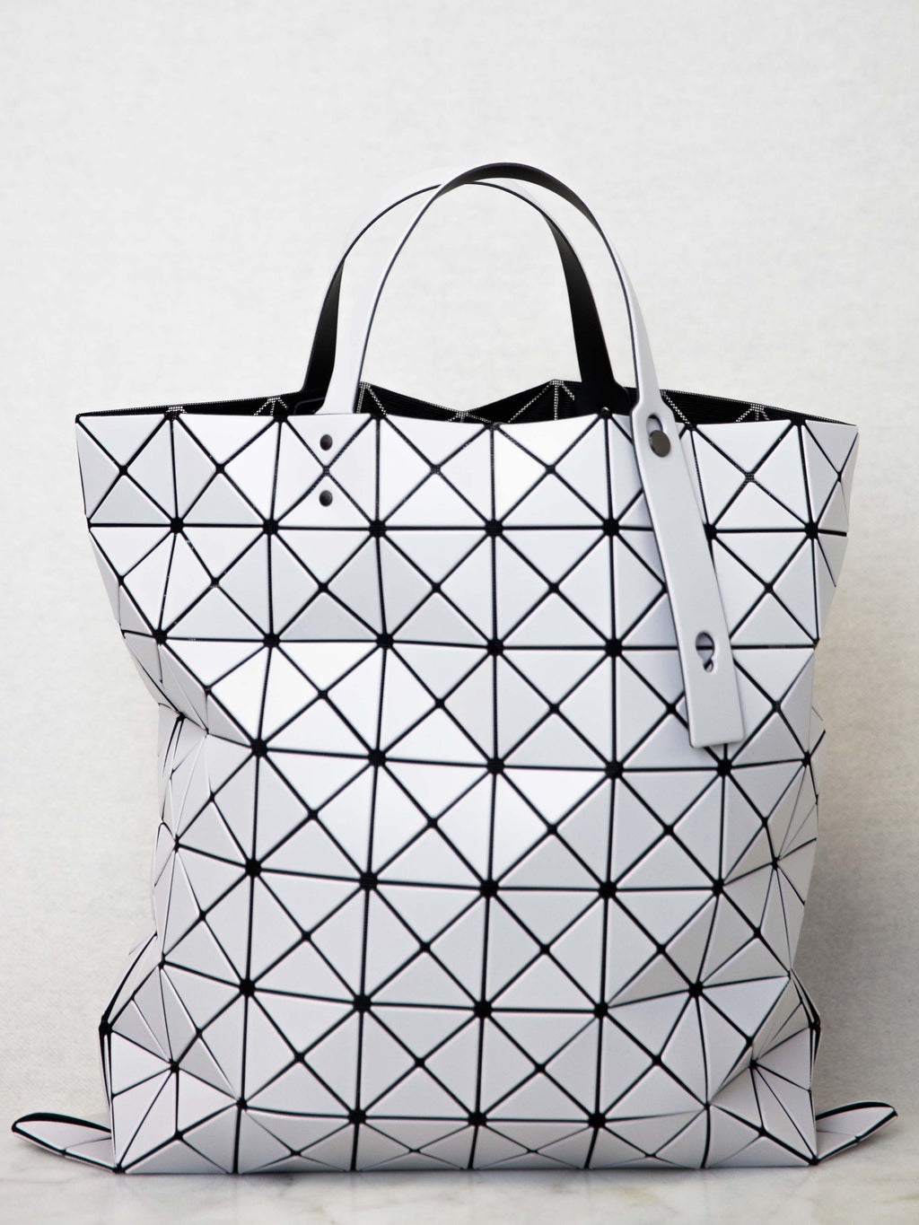 BAO BAO ISSEY MIYAKE Lucent Matte Oversized Tote Bag - Light Grey