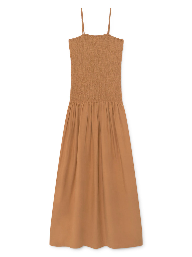Benidorm Smocked Dress - Nude