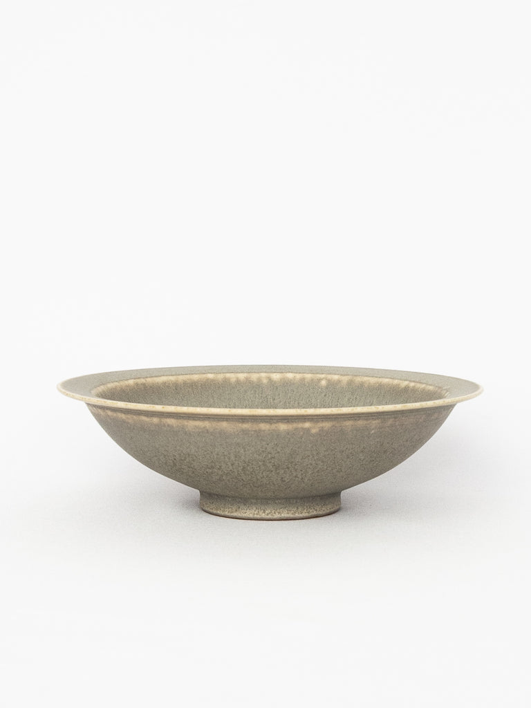 Large Flat Rim Bowl - Grey Smoke