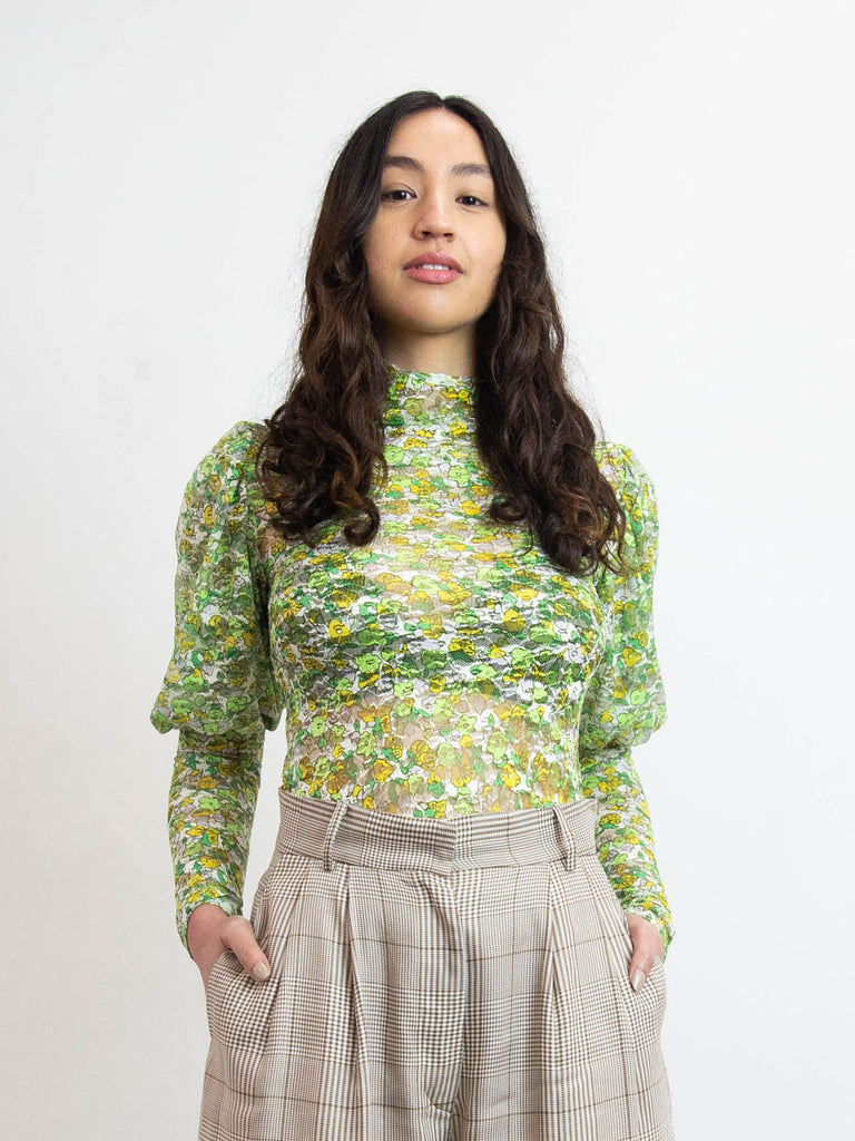 Cardio Princess Top - Green Garden Lace
