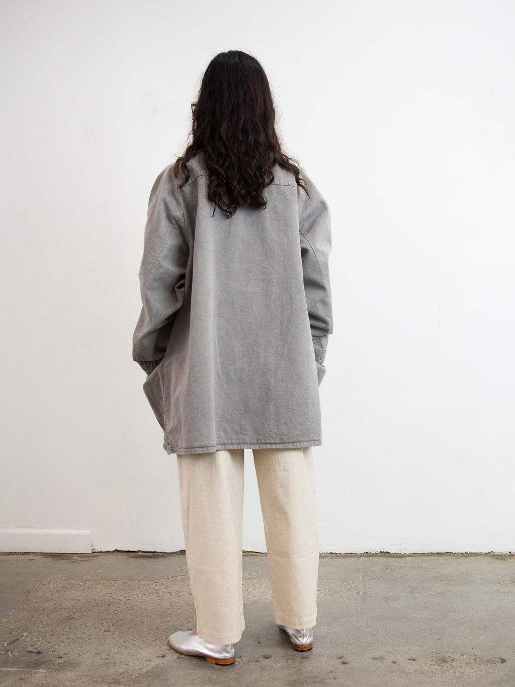 Organic Cotton Color Denim Noragi - Light Sumikuro