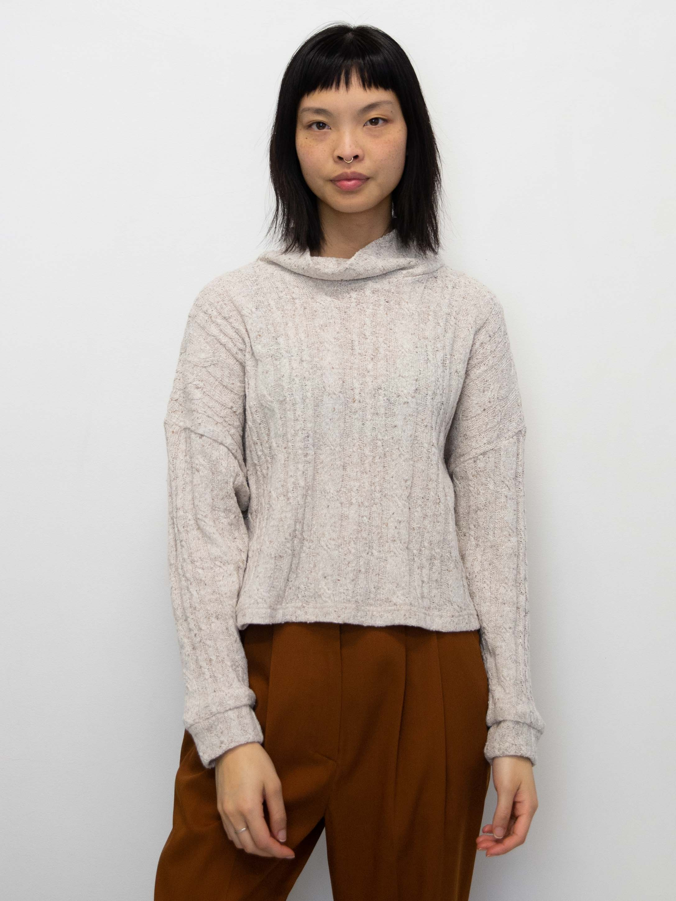 DRESS UP Cable Knit Sweater - Cream