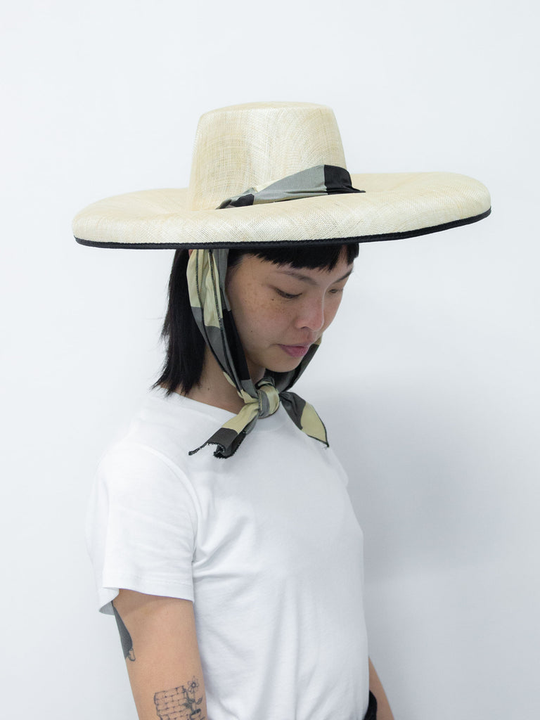 Silk Campana Hat - Black Check