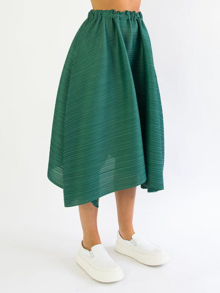 PLEATS PLEASE ISSEY MIYAKE Squared Skirt - Leaf Green