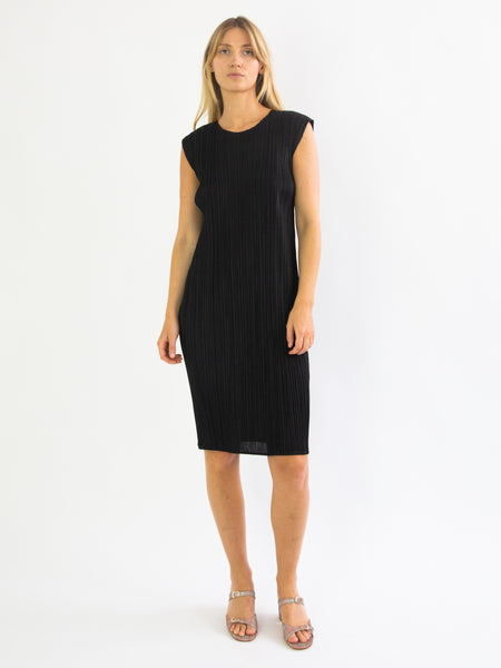 PLEATS PLEASE ISSEY MIYAKE Basics Tunic Dress - Black