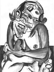 Limited Edition Charcoal Print by Julia Trybala