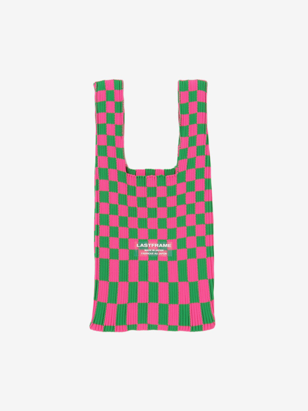 Block Market Bag - Neon Pink and Green
