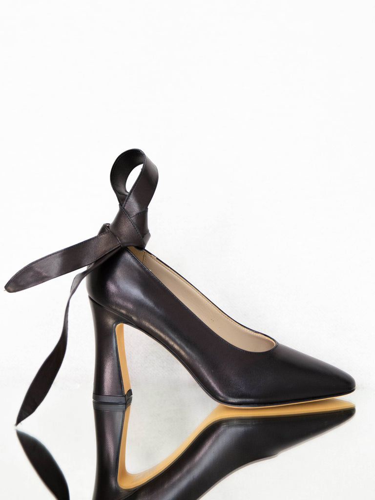 MARYAM NASSIR ZADEH Bertrand Pump with Tie - Black