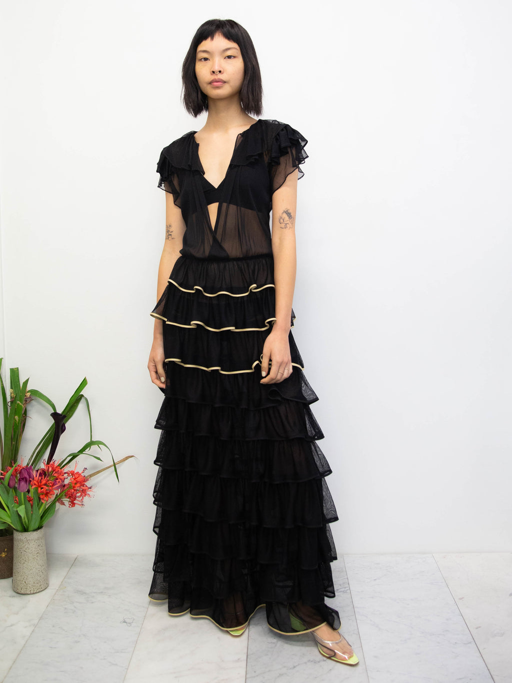 MARYAM NASSIR ZADEH Dante Silk Tulle Dress