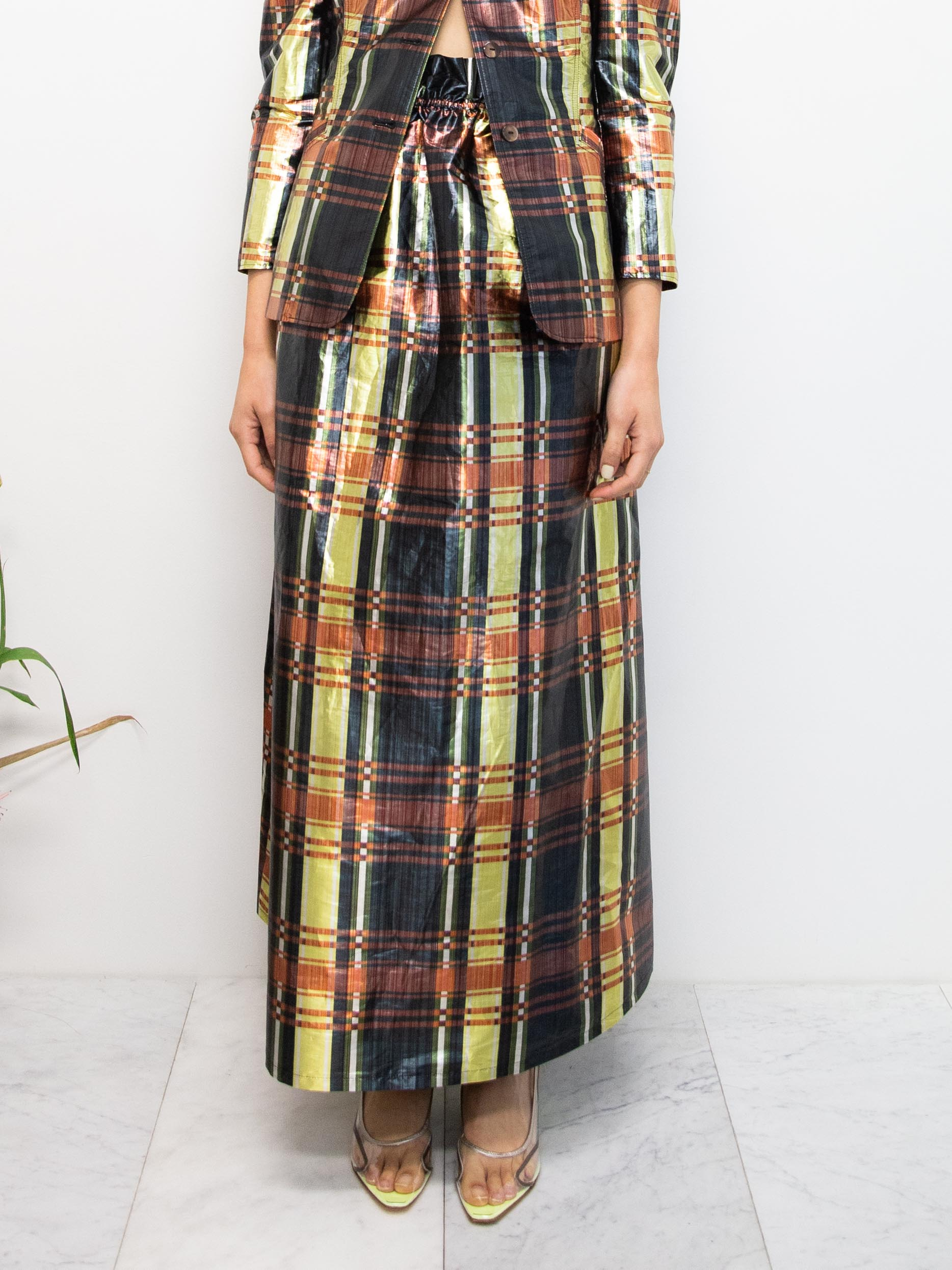 MARYAM NASSIR ZADEH Glory Plaid Vellum Dress