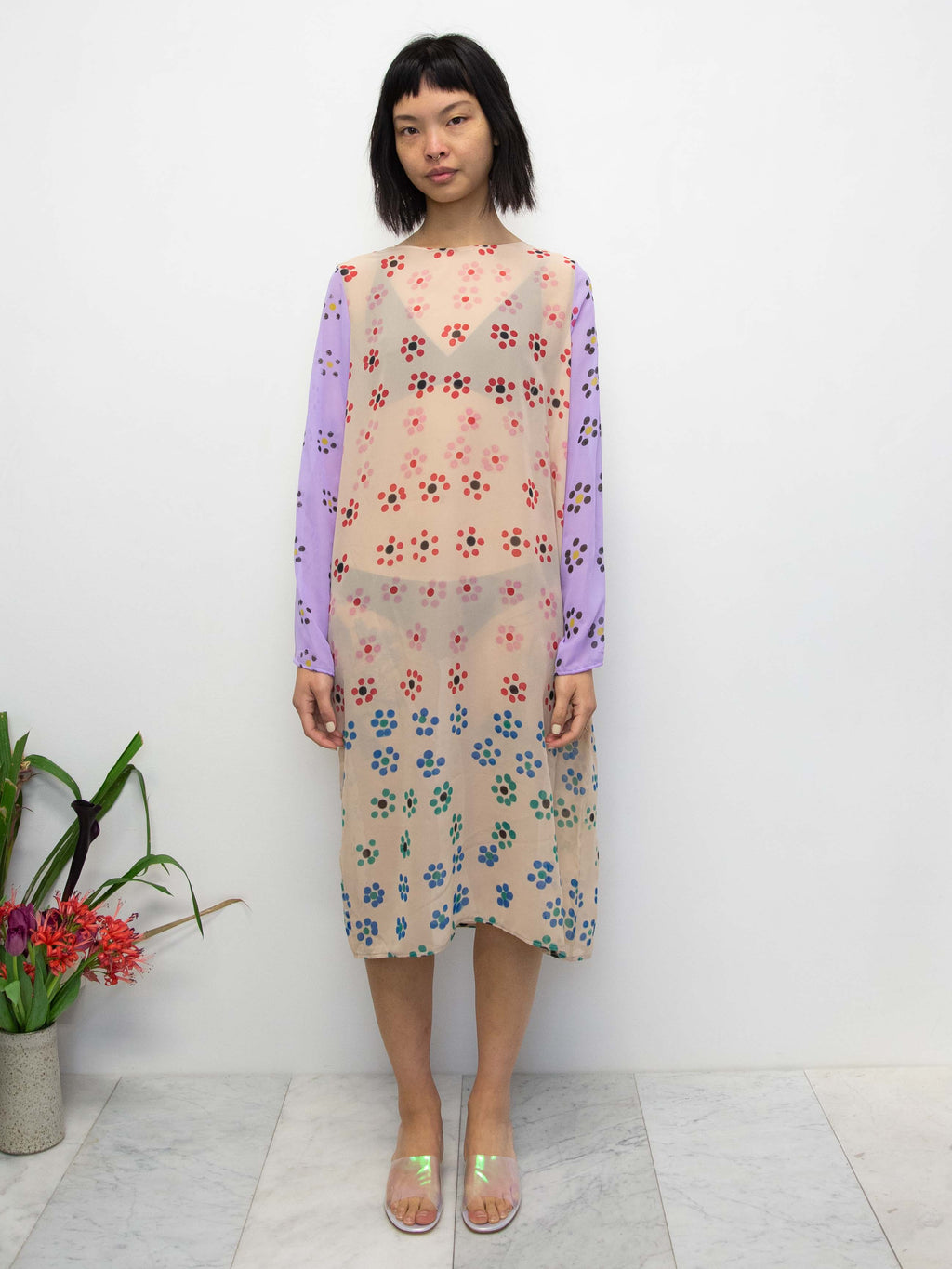 MARYAM NASSIR ZADEH Castle Daisy Print Dress