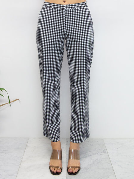 MARYAM NASSIR ZADEH Cape Gingham Trouser