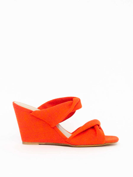 MARYAM NASSIR ZADEH Carine Knotted Wedge - Saffron