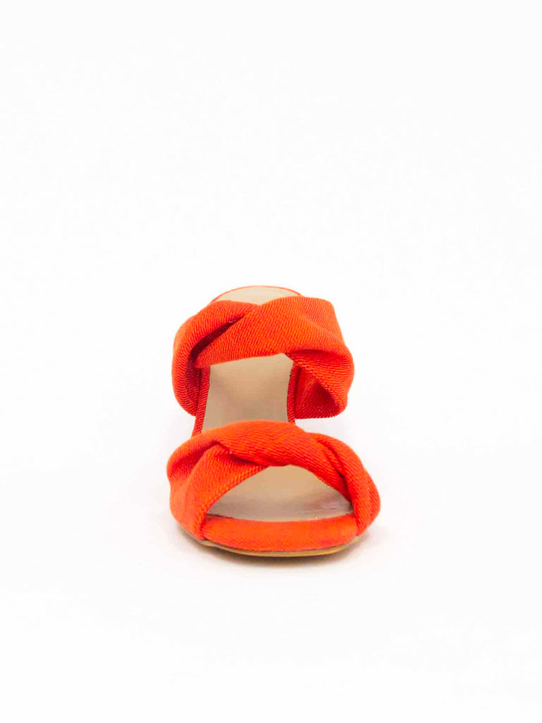 Carine Knotted Wedge - Saffron