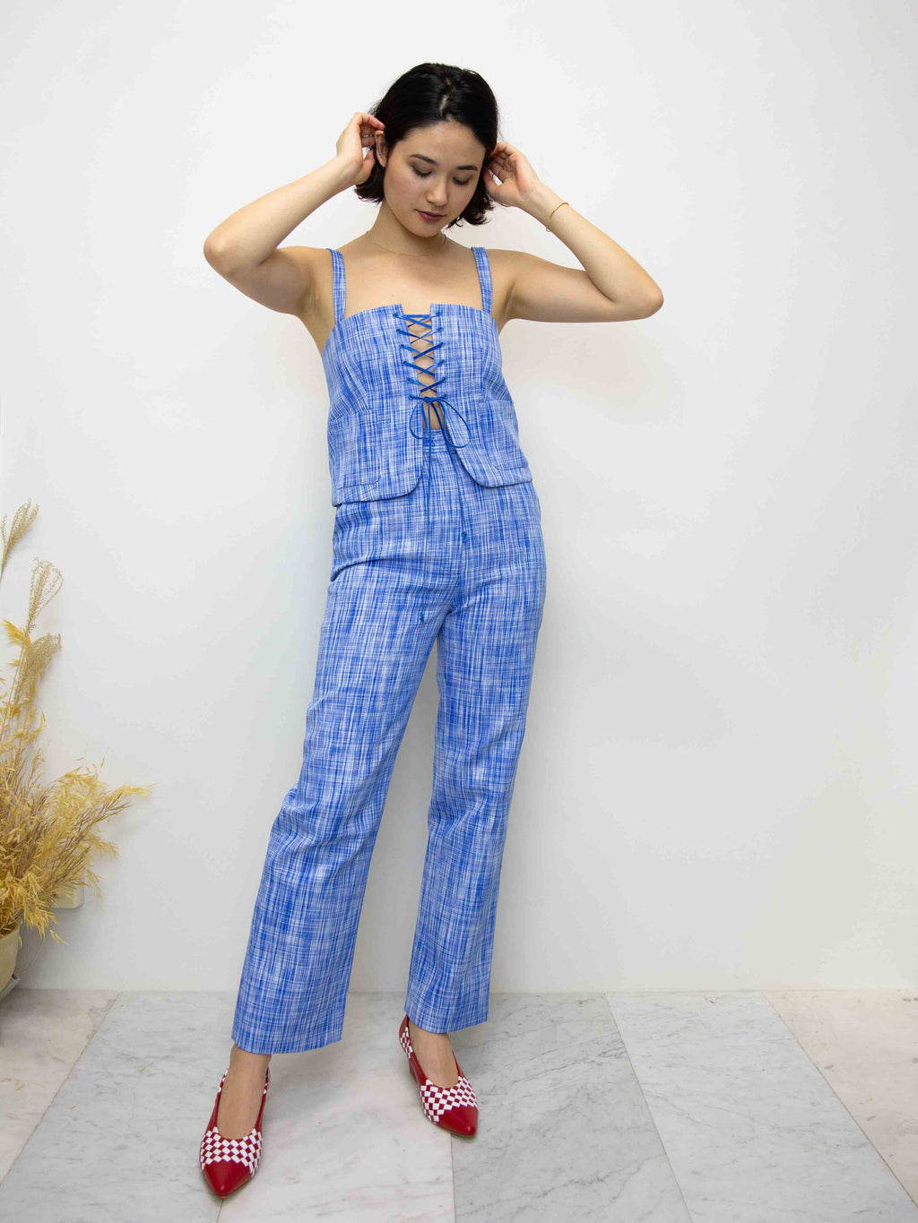 MARYAM NASSIR ZADEH Willow Basketweave Trousers