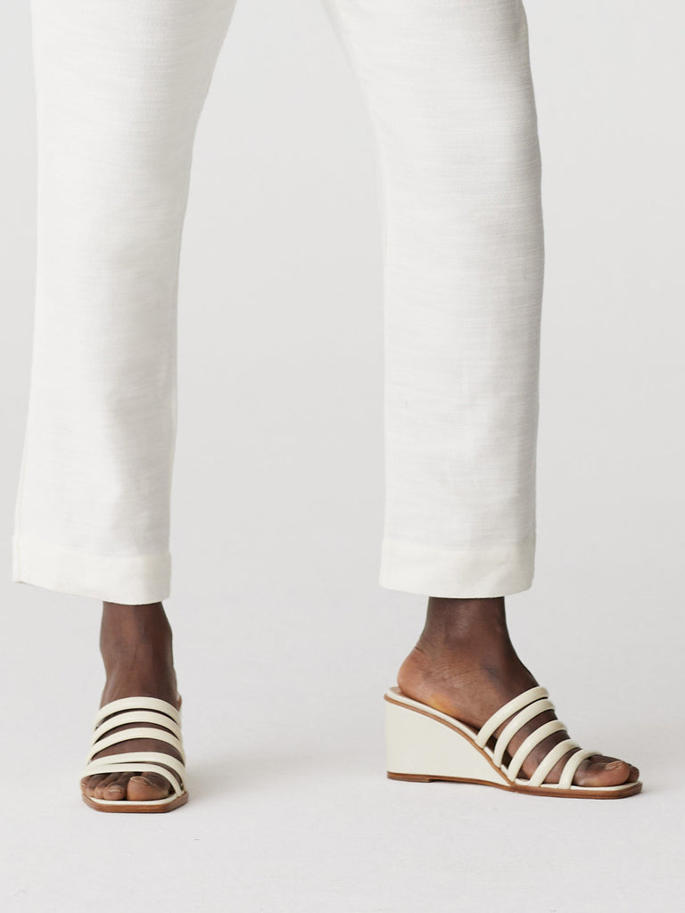 Magdalene Strappy Sandals - Off White