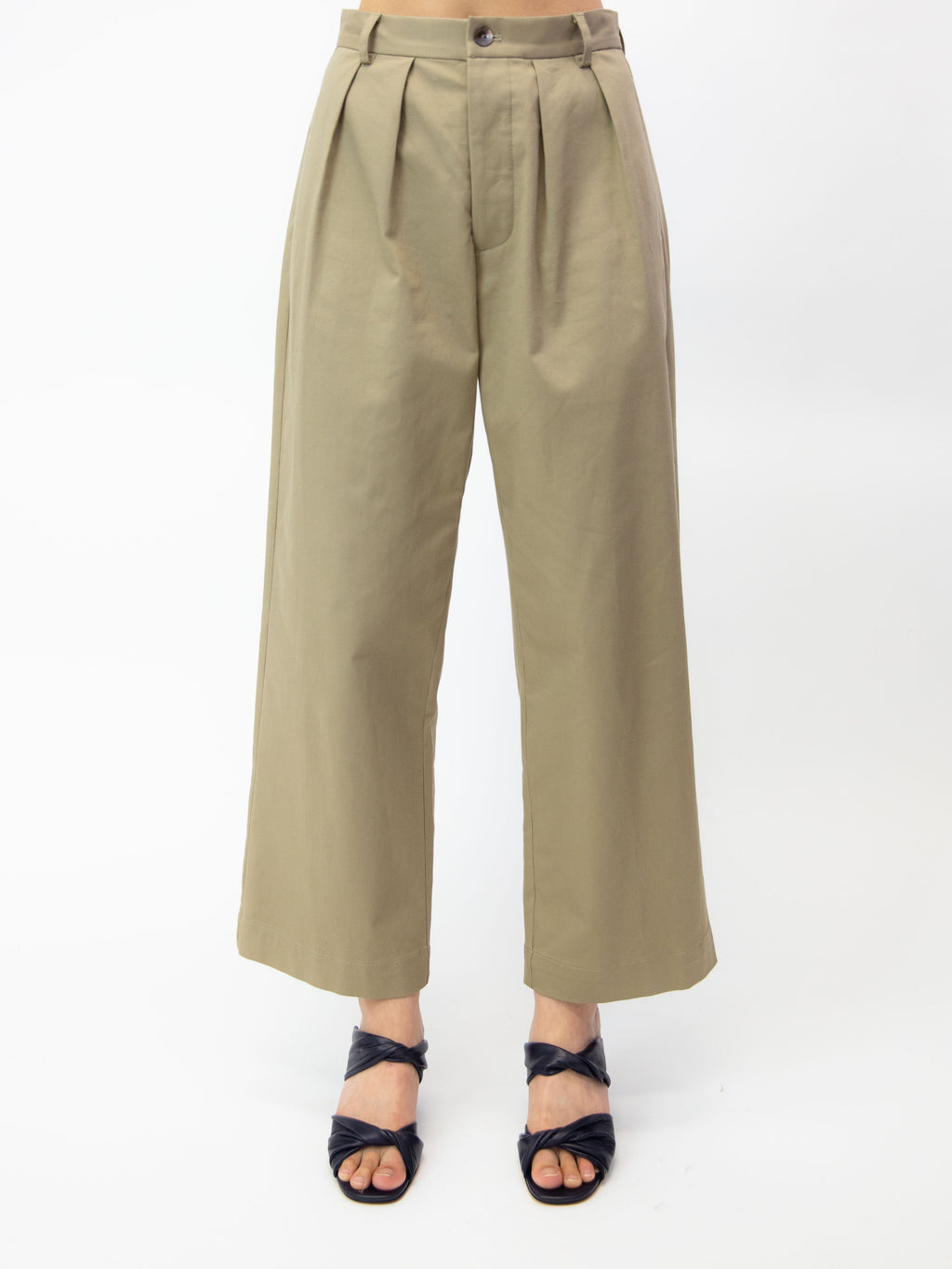 Palisades Pleated Trouser - Khaki