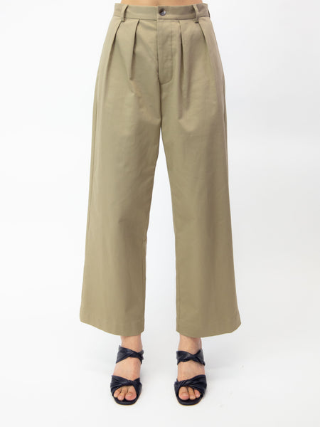 MARYAM NASSIR ZADEH Palisades Pleated Trouser - Khaki