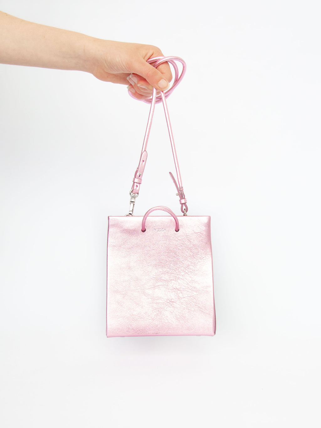 Short Long Strap - Metallic Pink