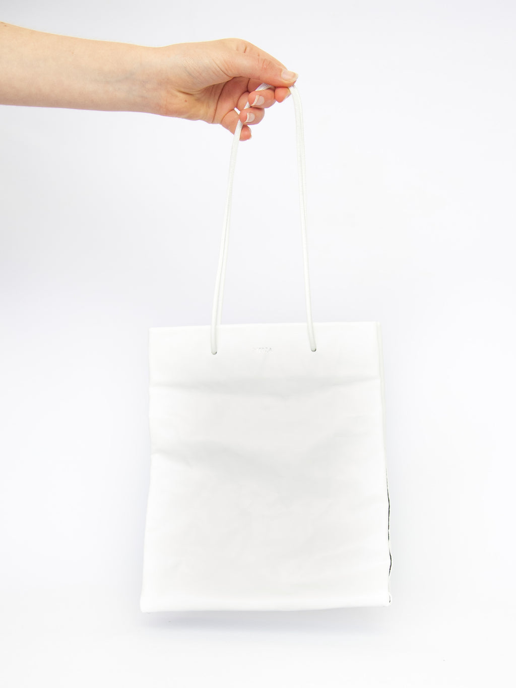 Tall Busted Bag - White