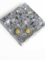 Wendy Earrings - White Gold with Yellow Quartz