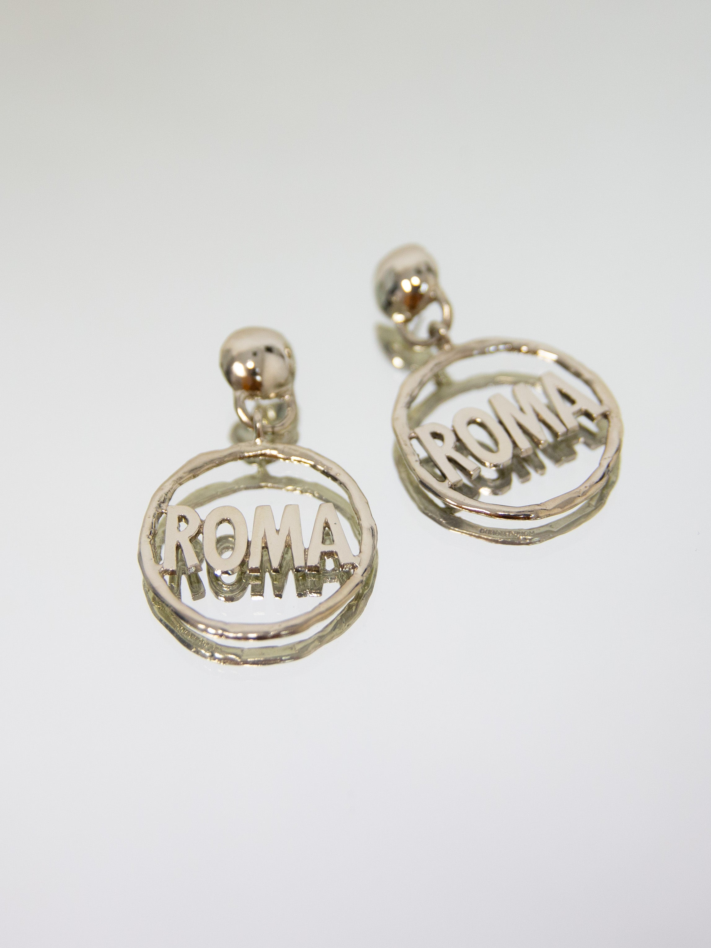 MONDO MONDO Roma Earrings - White Bronze