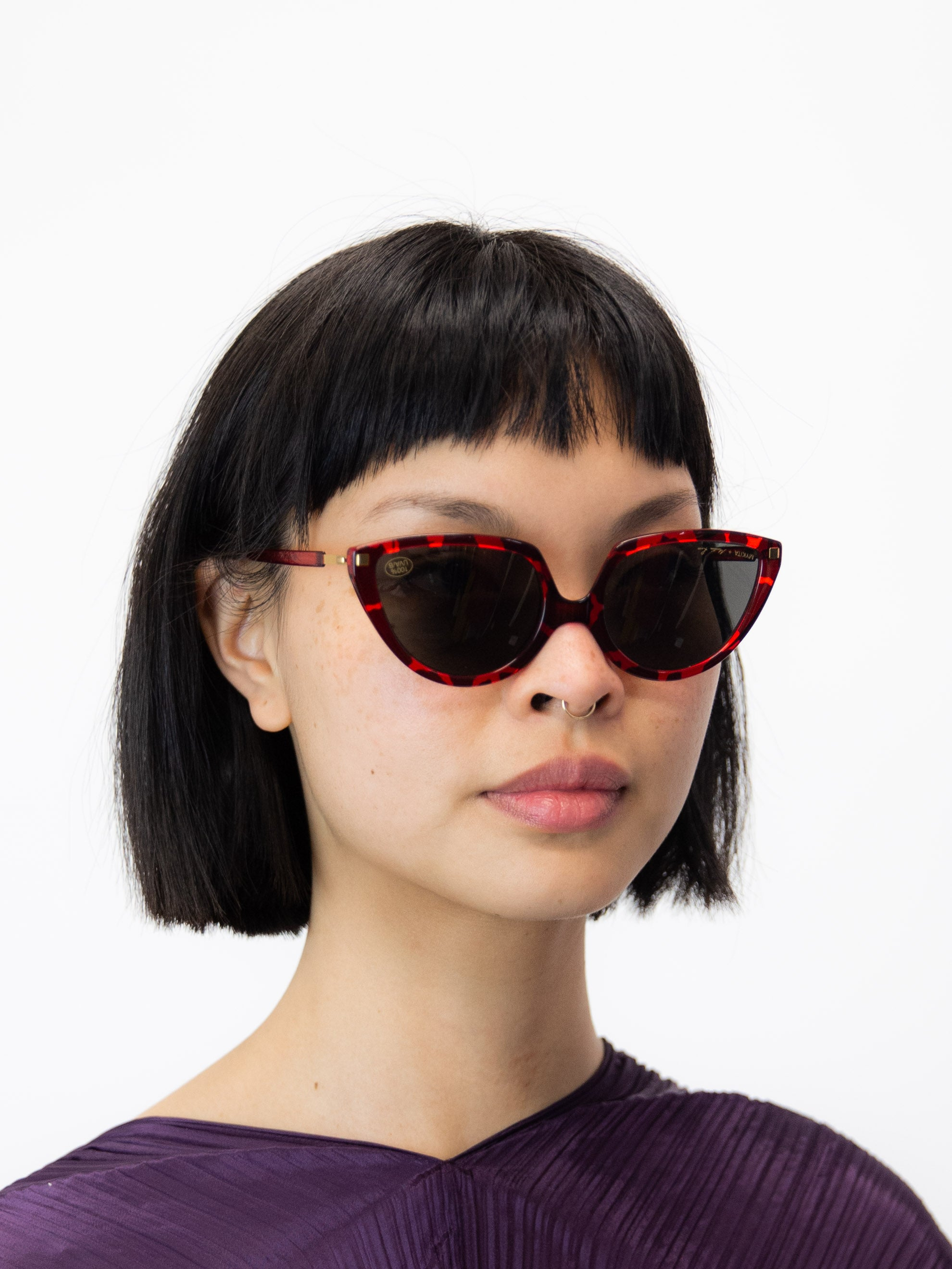 MYKITA + Martine Rose SOS Sunglasses - Red Giraffe