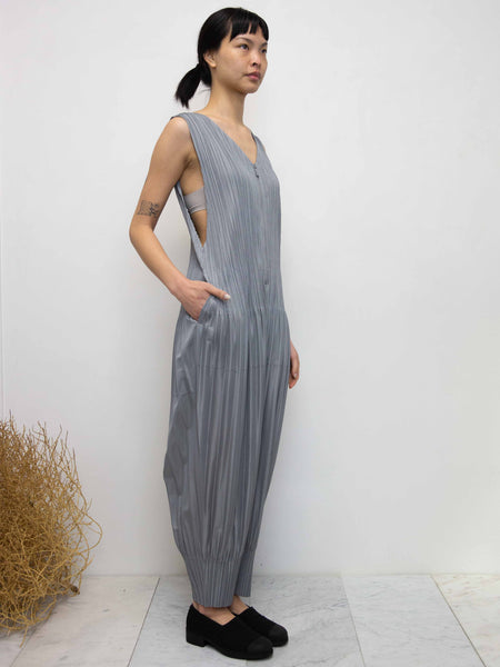 PLEATS PLEASE ISSEY MIYAKE Fluffy Basics Jumpsuit - Cool Grey