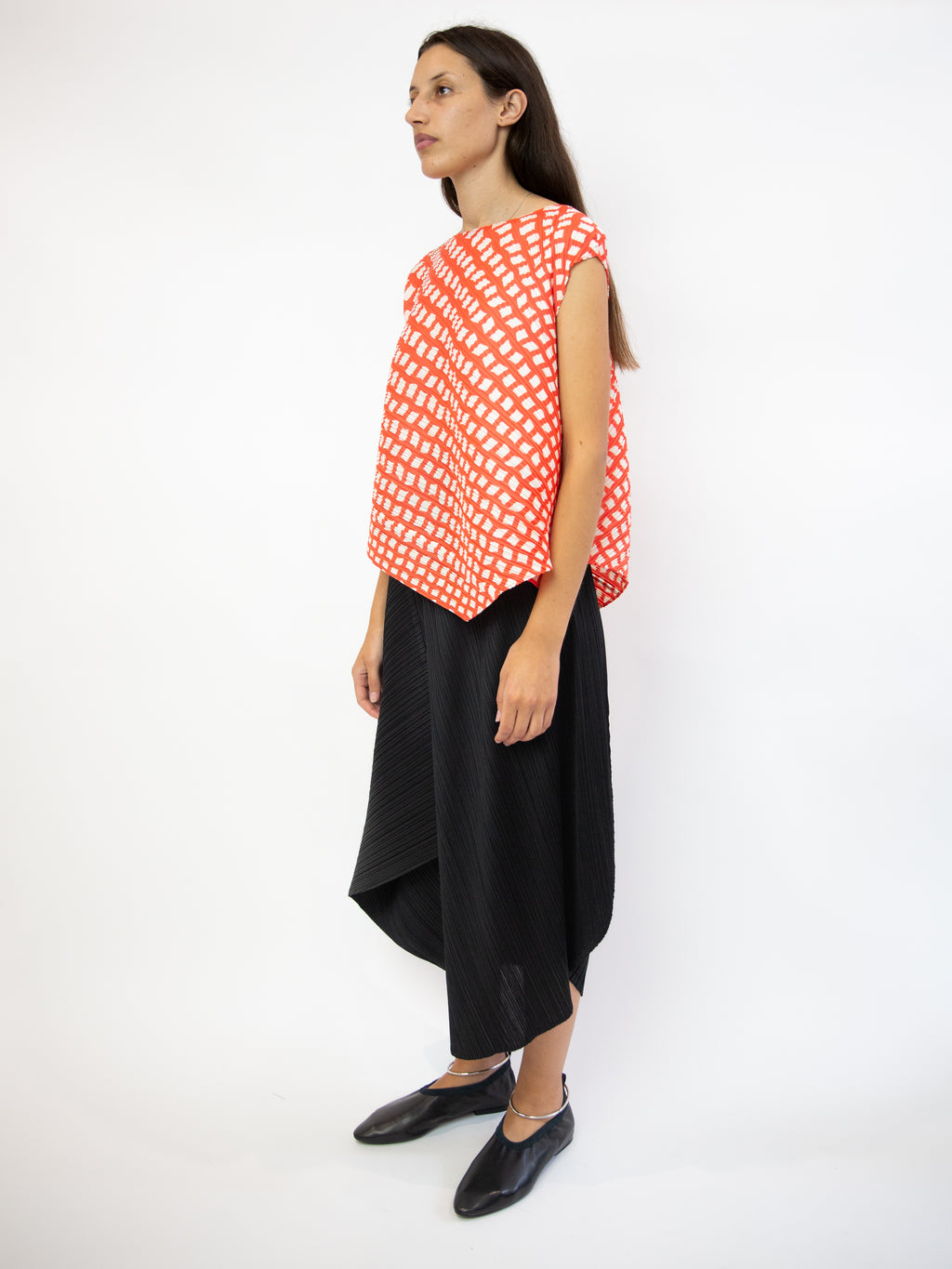 Step Sleeveless Top - Bright Red