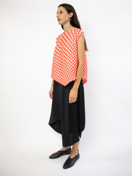 PLEATS PLEASE ISSEY MIYAKE Step Sleeveless Top - Bright Red