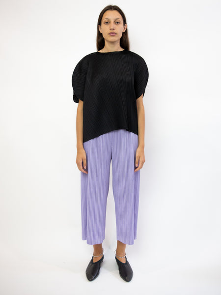 PLEATS PLEASE ISSEY MIYAKE Curved Top - Black