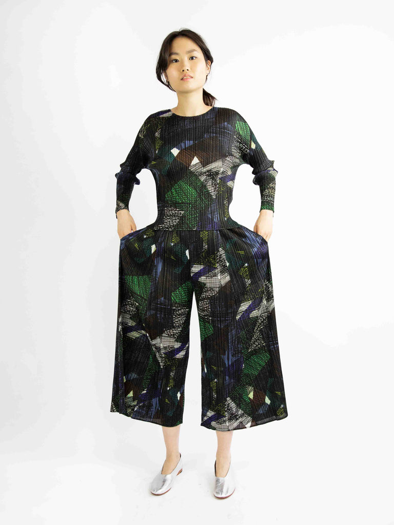 Andante Wide Pants - Green