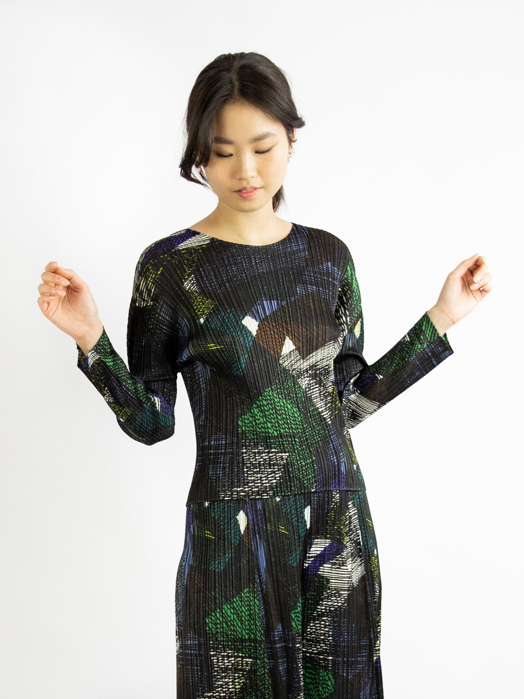 Andante Long Sleeved Top - Green