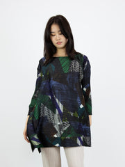Andante Bouncy Long Sleeved Tunic- Green